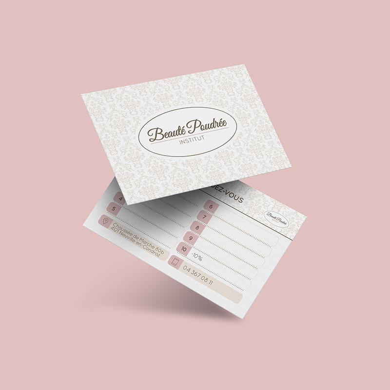 Cartes de fidélité - Beauté Poudrée