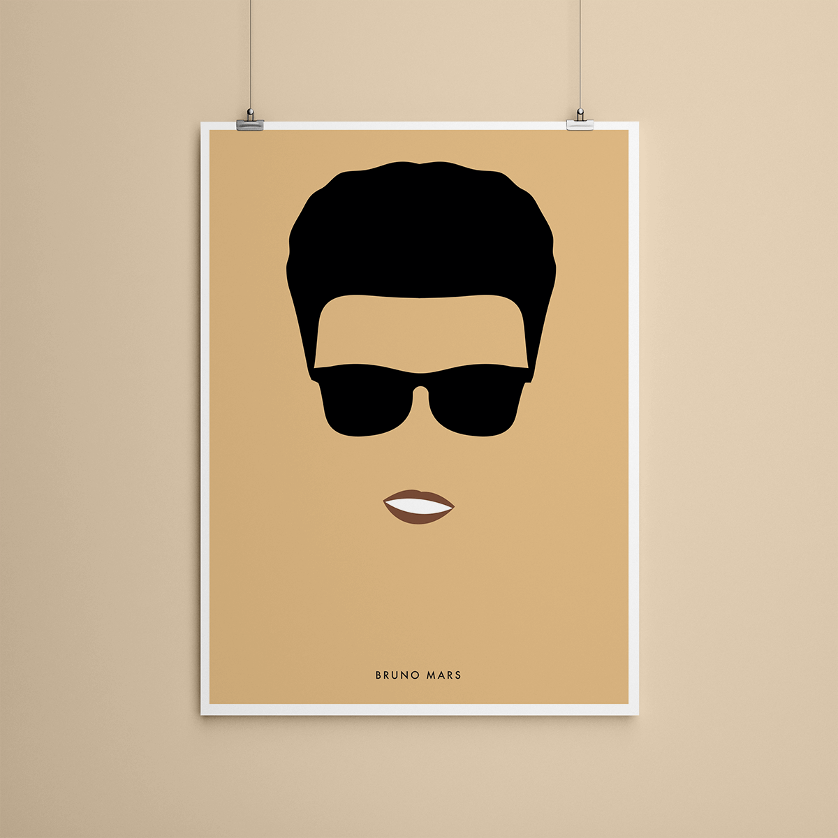 Bruno Mars - Poster minimaliste