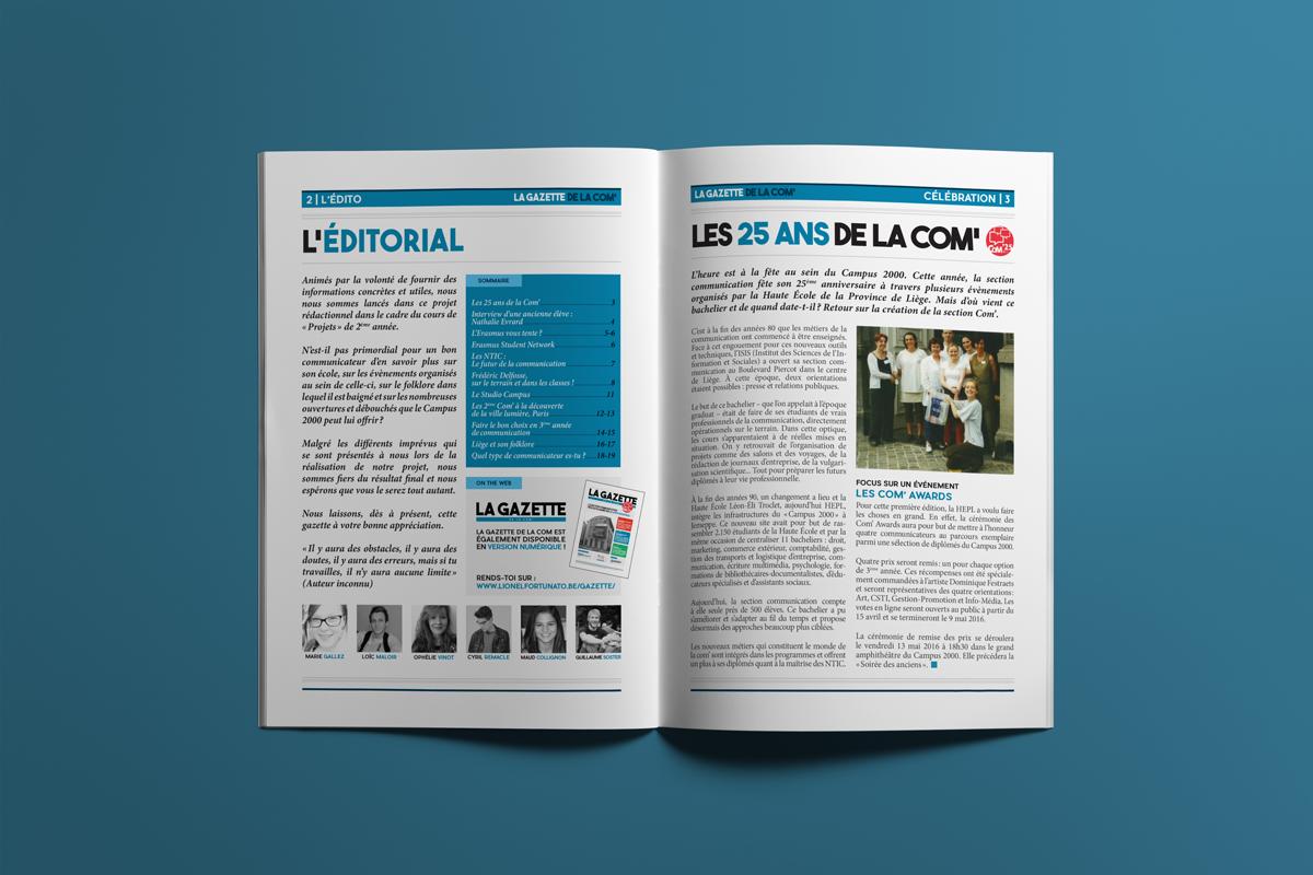 Pages 2 & 3 - La gazette de la com'