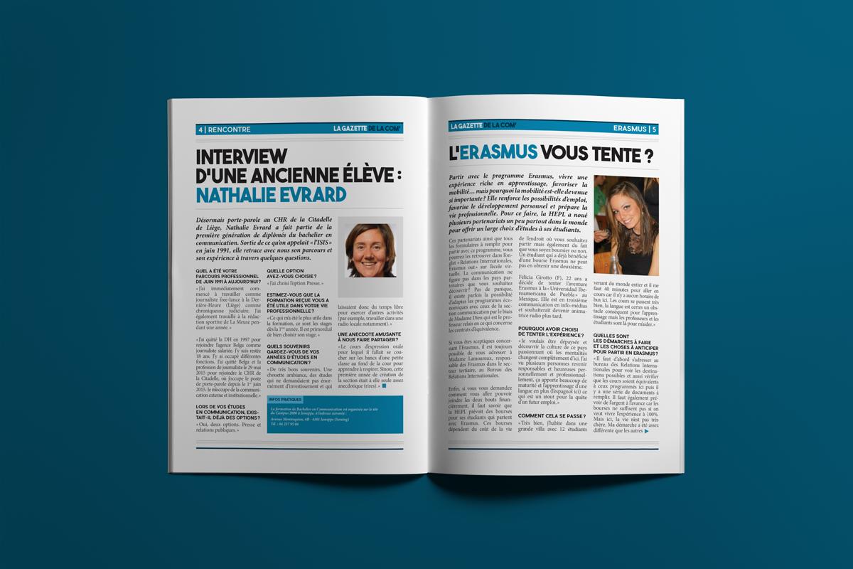 Pages 4 & 5 - La gazette de la com'