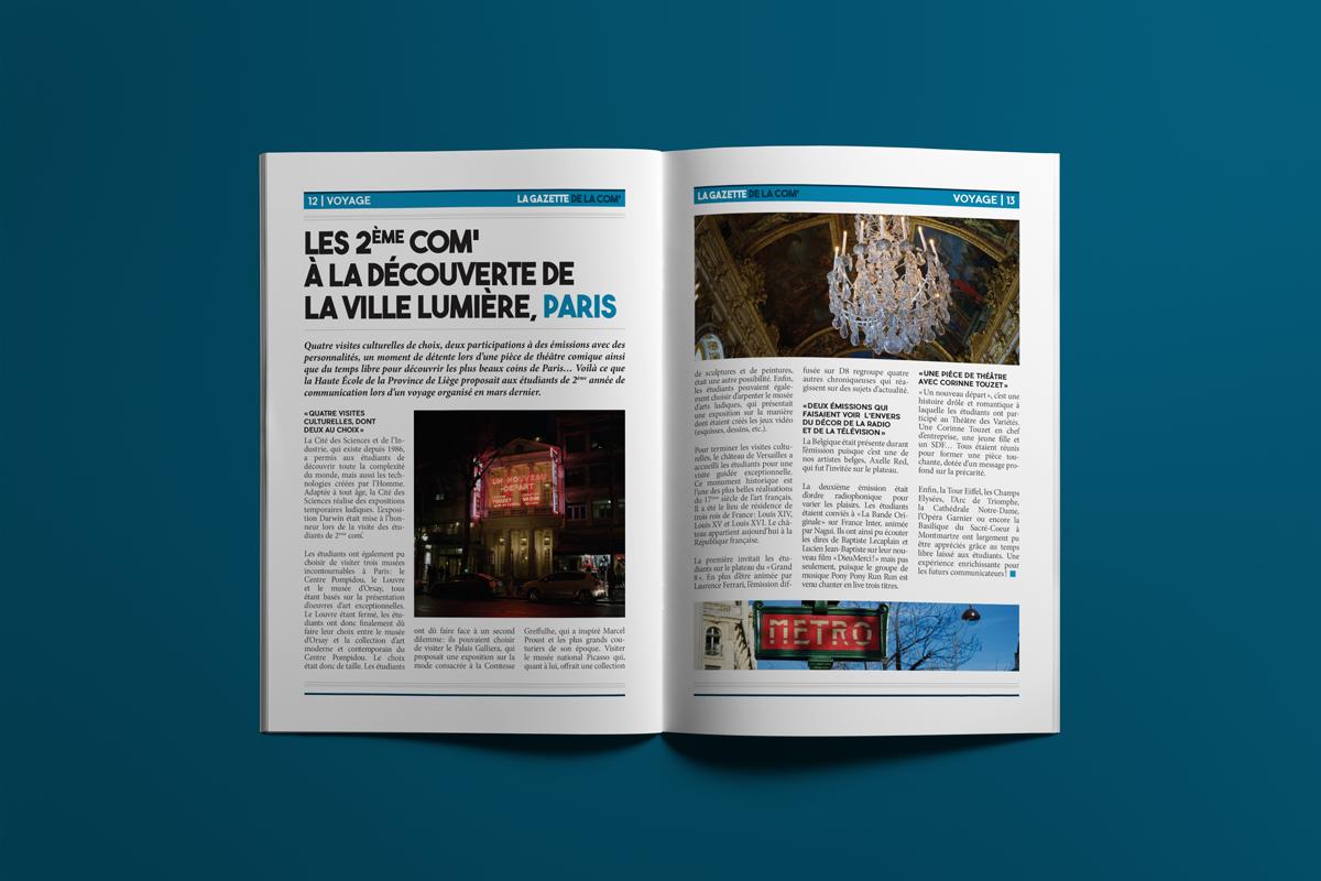 Pages 12 & 13 - La gazette de la com'
