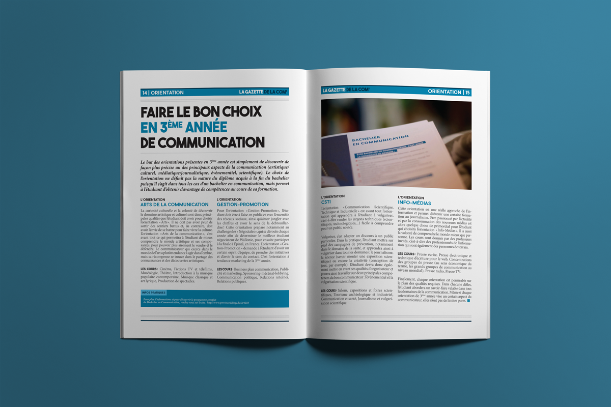 Pages 14 & 15 - La gazette de la com'