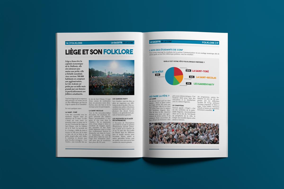 Pages 16 & 17 - La gazette de la com'