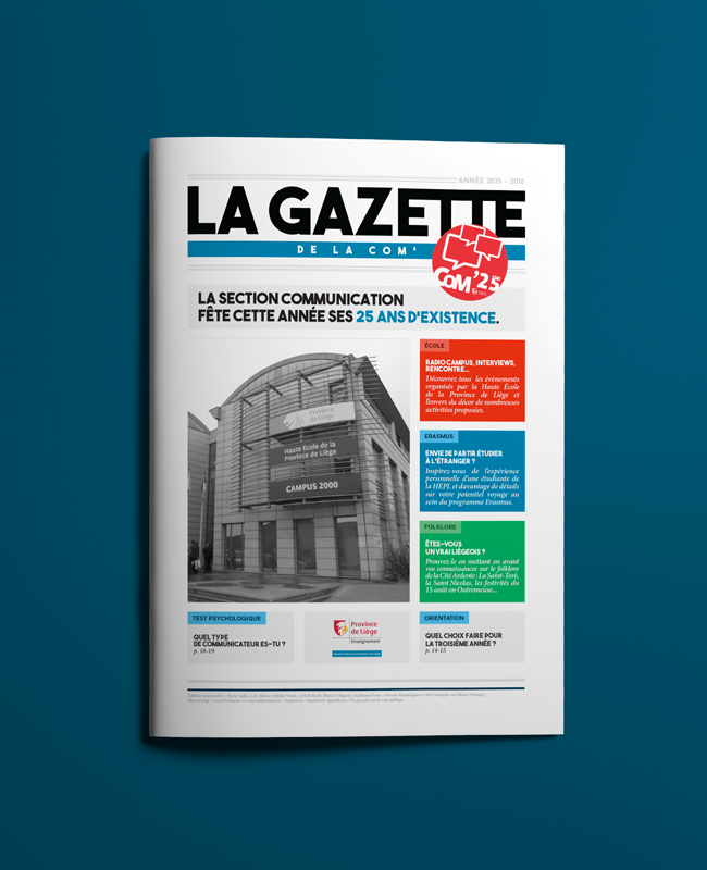 Couverture - La Gazette de la Com'