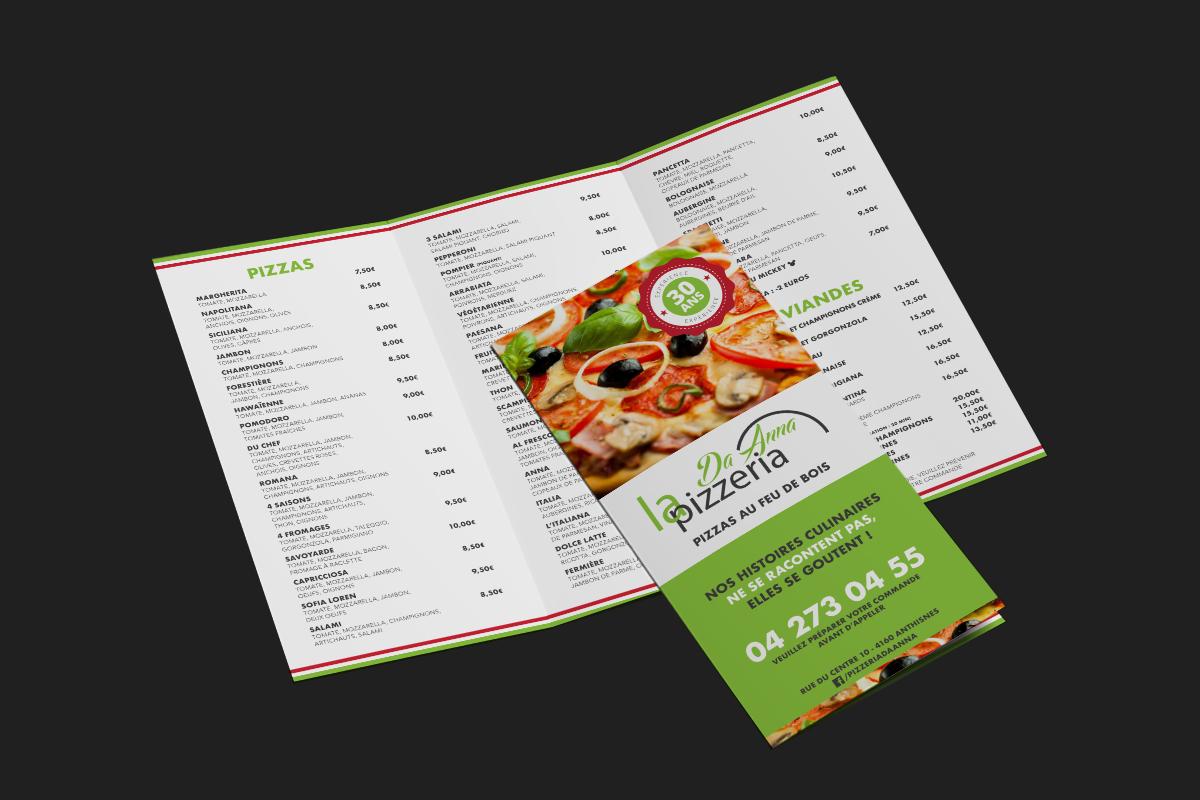 Dépliant - Pizzeria Da Anna