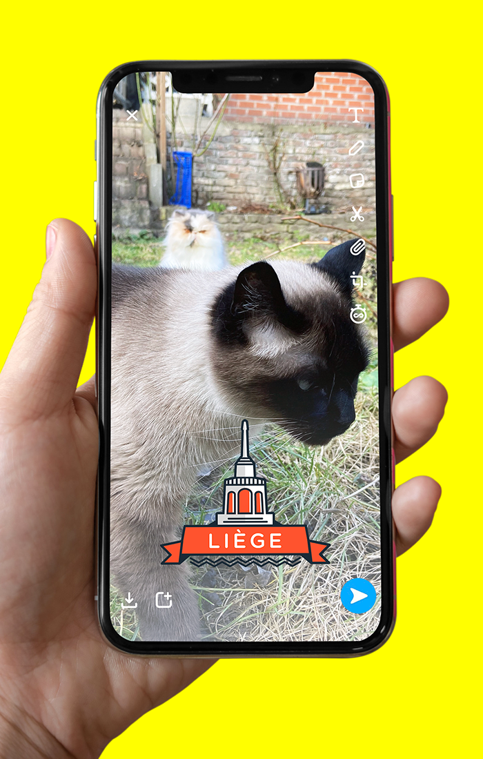 Liège - Snapchat Geofilter