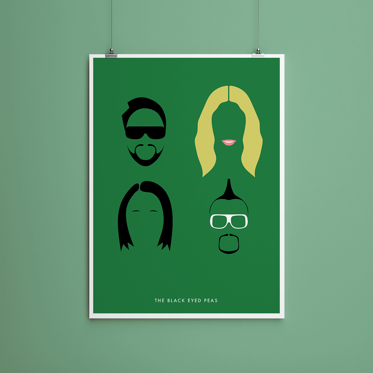 The Black Eyed Peas - Poster minimaliste